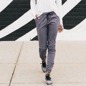 Gray Zyia Activewear Joggers